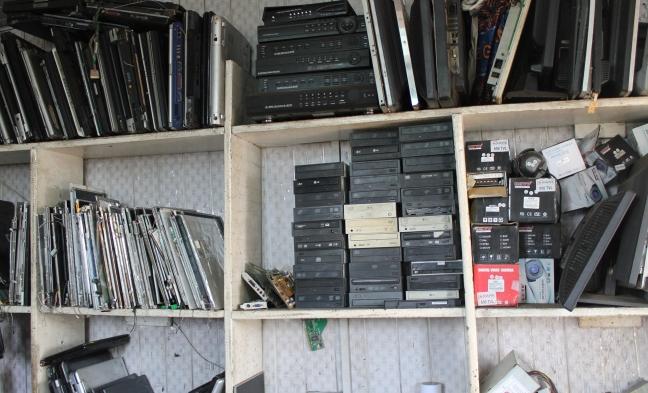 Emeka's computer shop in Agbogbloshie