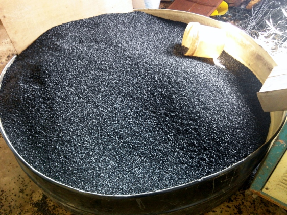 Pellet made by extrusion process