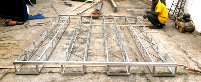 5 box truss floor raft