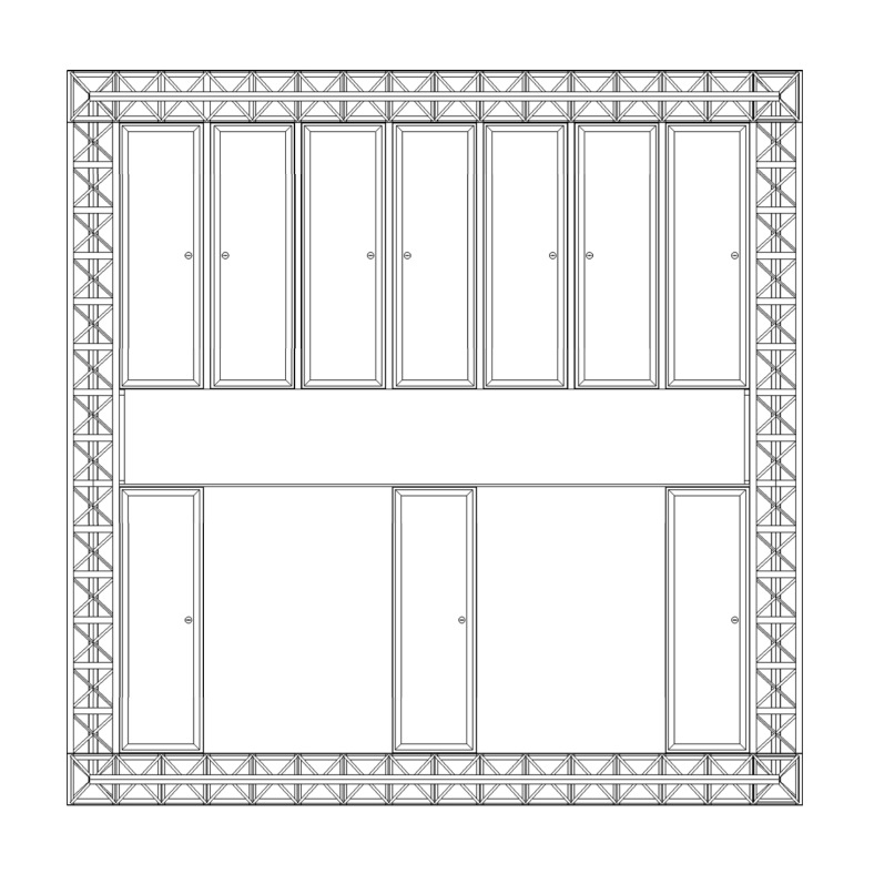 Infill panel wall elevation