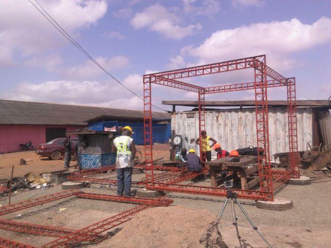 octet truss 1-module assembled in site